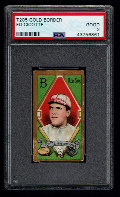 1911 T205 Ed Cicotte PSA 2 Polar Bear Back