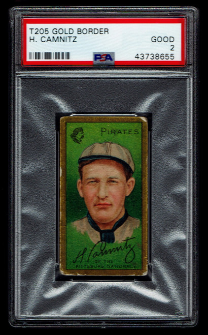 1911 T205 Howard Camnitz PSA 2 Piedmont Back