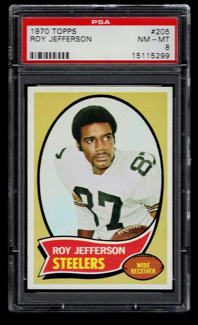 1970 Topps #205 Roy Jefferson PSA 8