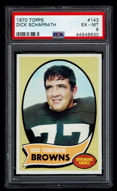 1970 Topps #143 Dick Schafrath PSA 6