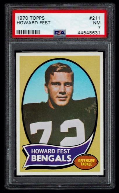 1970 Topps #211 Howard Fest PSA 7