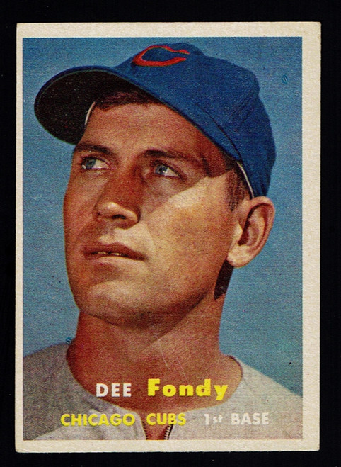 1957 Topps #042 Dee Fondy VGEX
