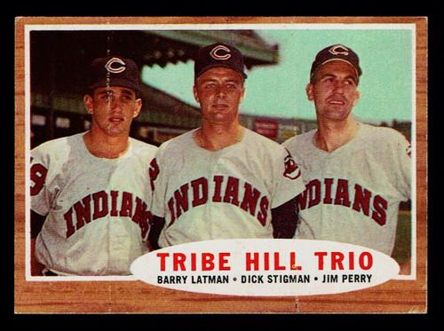 1962 Topps #037 Tribe Hill Trio EX