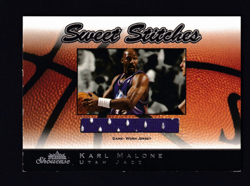 2003 Fleer Showcase Sweet Stiches Karl Malone Jersey EX+