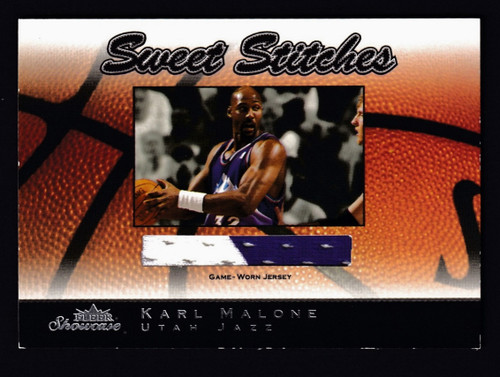 2003 Fleer Showcase Sweet Stiches Karl Malone Jersey EX+ B