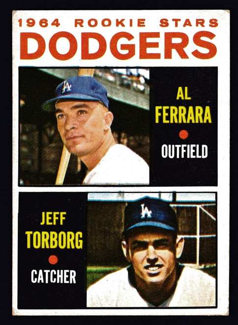 1964 Topps #337 Dodgers Rookies Torborg VGEX