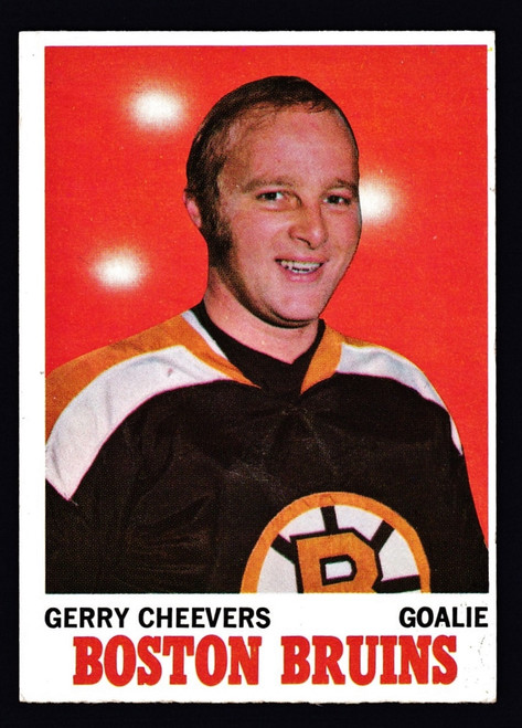 1970 Topps #001 Gerry Cheevers VGEX