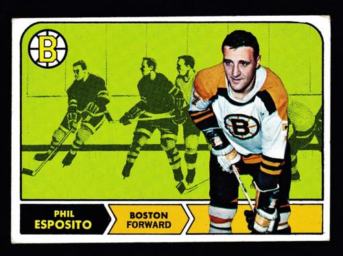 1968 Topps #007 Phil Esposito VGEX