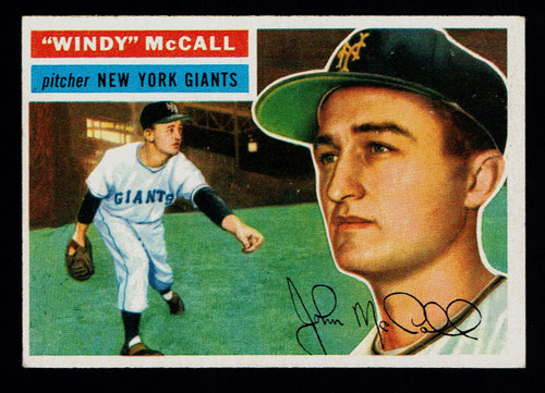 1956 Topps #044 Windy McCall WB EX