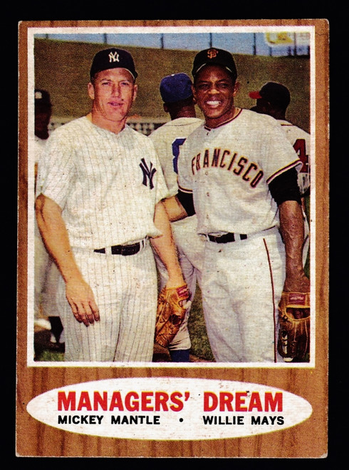1962 Topps #018 Manager's Dream Mantle Mays VGEX