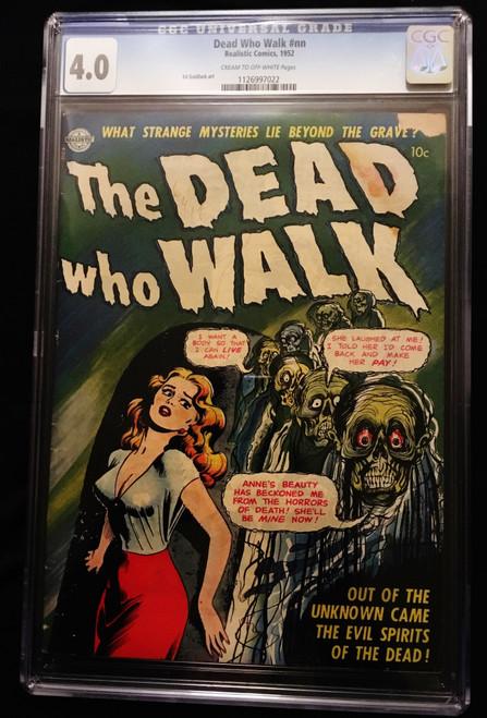 1952 Realistic The Dead Who Walk CGC 4.0