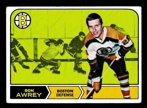 1968 Topps #003 Don Awrey VG