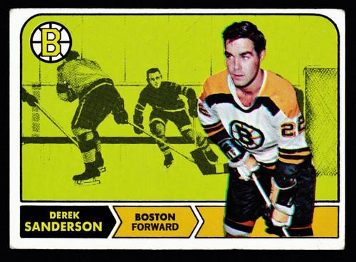 1968 Topps #006 Derek Sanderson VG