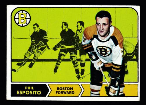1968 Topps #007 Phil Esposito VG