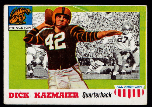 1955 Topps All American #023 Dick Kazmaier Poor