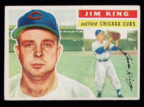 1956 Topps #074 Jim King WB VG