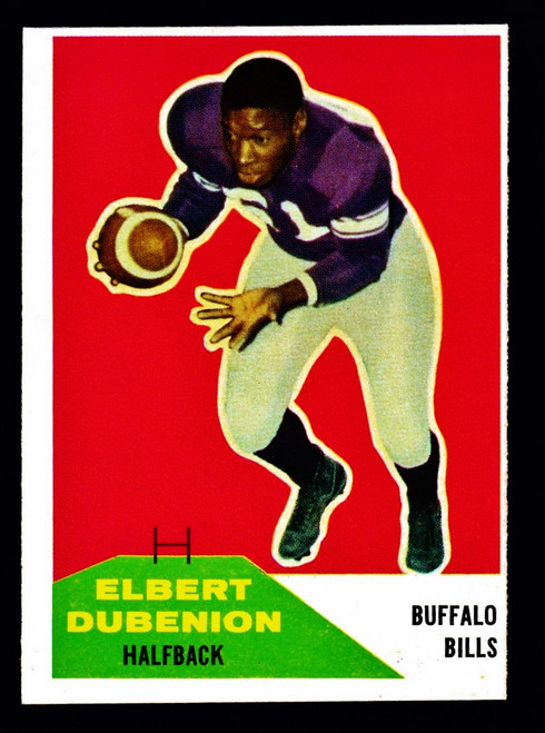 1960 Fleer #017 Elbert Dubenion RC EX