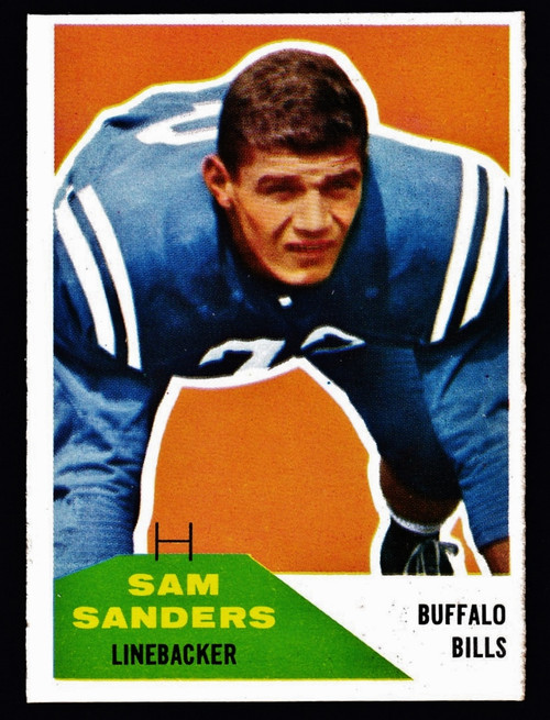1960 Fleer #057 Sam Sanders RC NM