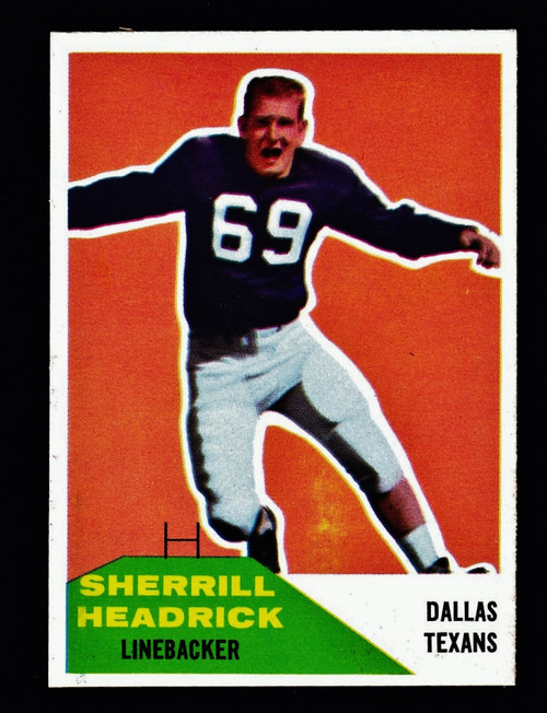 1960 Fleer #059 Sherrill Headrick RC NM