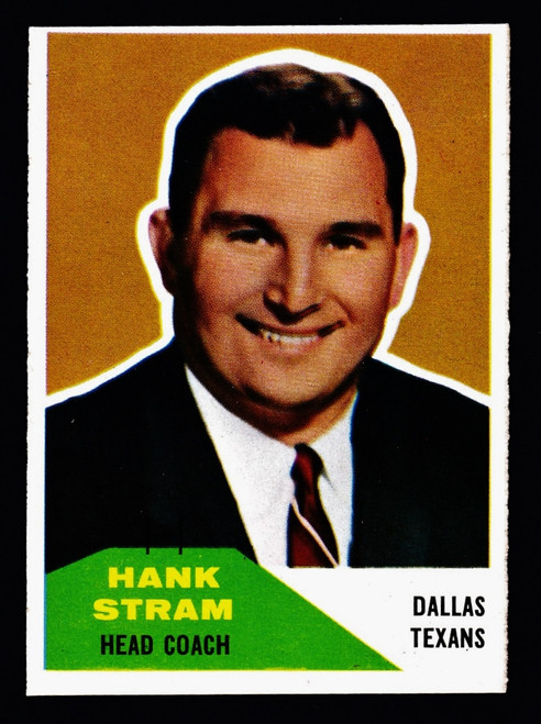 1960 Fleer #116 Hank Stram RC EXMT