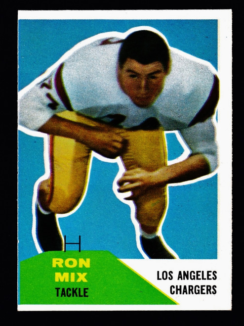 1960 Fleer #118 Ron Mix RC VG