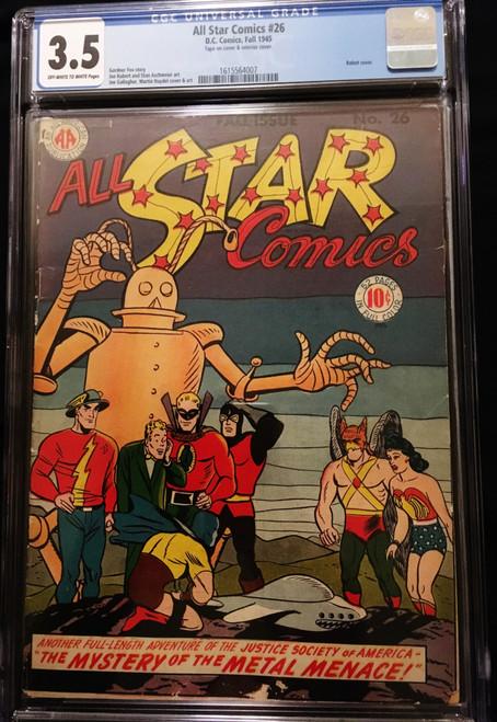 1945 DC All Star Comics #26 CGC 3.5