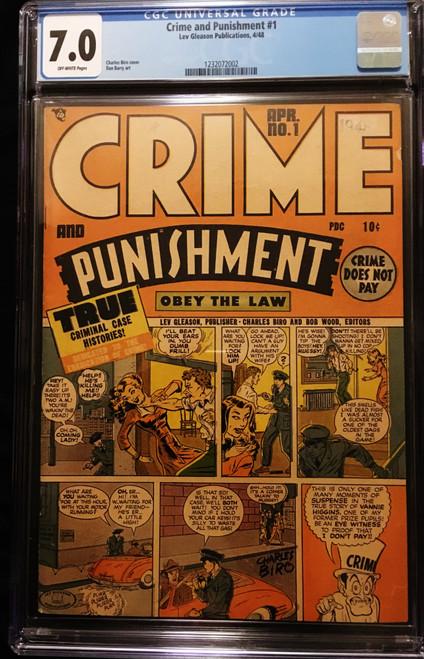 1948 Lev Gleason Crime and Punishment #1 CGC 7.0