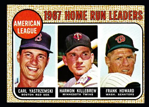 1968 Topps #006 AL Home Run Leaders Yastrzemski Killebrew VGEX