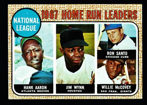 1968 Topps #005 NL Home Run Leaders Aaron Santo McCovey VG