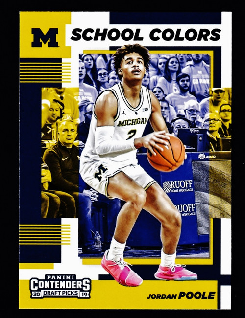 2019 Panini Contenders Draft Picks School Colors #17 Jordan Poole  NMMT or Better