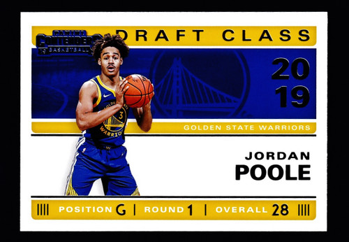 2019 Panini Contenders Draft Class #26 Jordan Poole  NMMT or Better