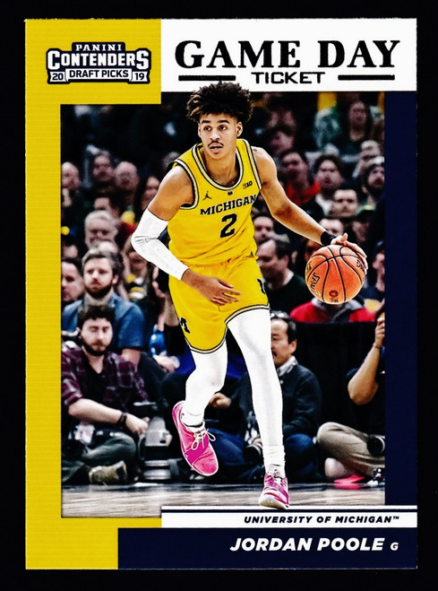 2019 Panini Contenders Game Day #17 Jordan Poole  NMMT