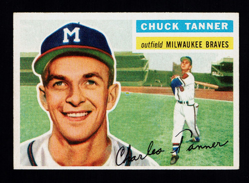 1956 Topps #069 Chuck Tanner WB EX+