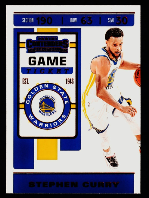 2019 Panini Contenders Game Ticket Red #92 Stephen Curry NMMT or Better