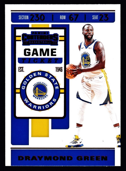 2019 Panini Contenders Game Ticket Red #32 Draymond Green NMMT or Better