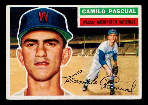1956 Topps #098 Camilo Pascual WB VGEX