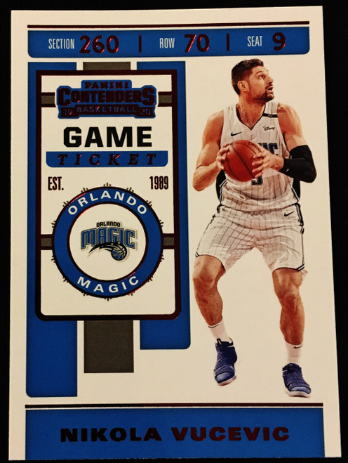 2019 Panini Contenders Game Ticket Red #86 Nikola Vucevic NMMT or Better