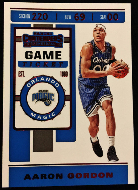 2019 Panini Contenders Game Ticket Red #02 Aaron Gordon NMMT or Better
