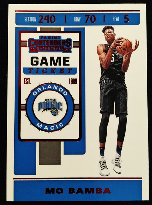 2019 Panini Contenders Game Ticket Red #82 Mo Bamba NMMT or Better