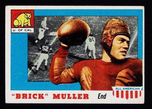 1955 Topps All American #022 Brick Muller VG