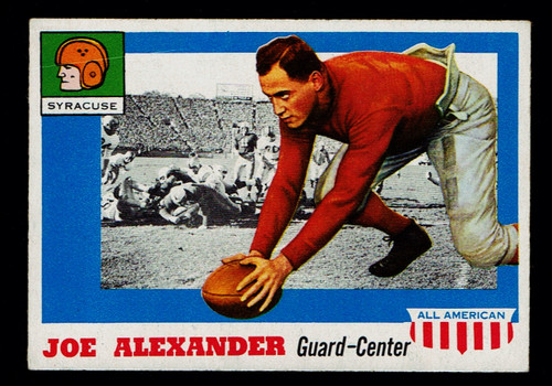 1955 Topps All American #041 Joe Alexander VG