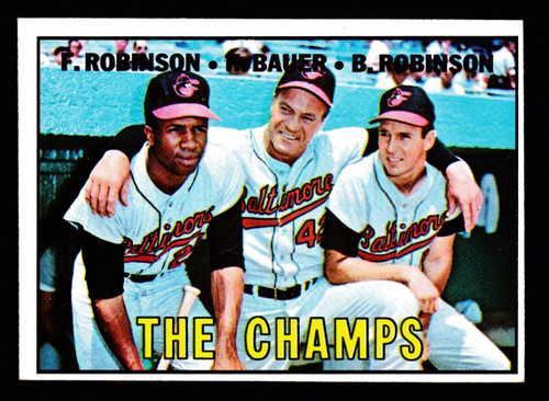 1967 Topps #001 The Champs Frank Brooks Robinson GD