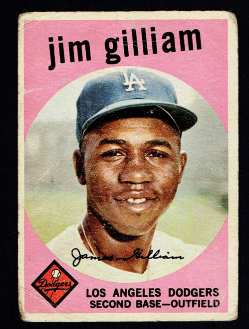 1959 Topps #306 Jim Gilliam Poor
