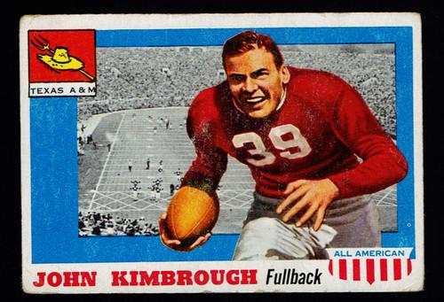 1955 Topps All American #002 John Kimbrough Fair