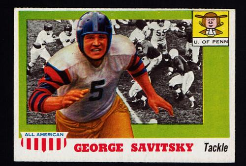 1955 Topps All American #043 George Savitsky EX