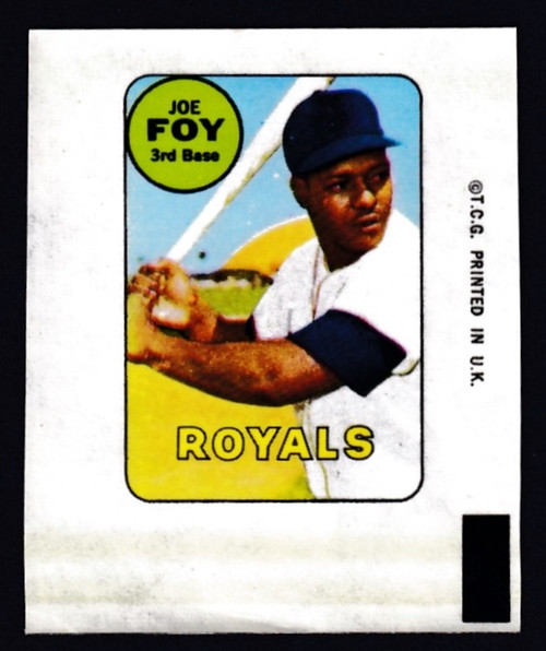 1969 Topps Decals Joe Foy VG
