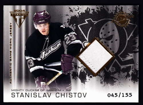 2004 Pacific Private Stock Titanium Stanislav Chistov Jersey #045/150 EXMT