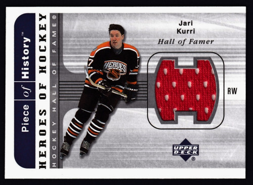 2002 Upper Deck Heroes of Hockey Jari Kurri Jersey NMMT or Better
