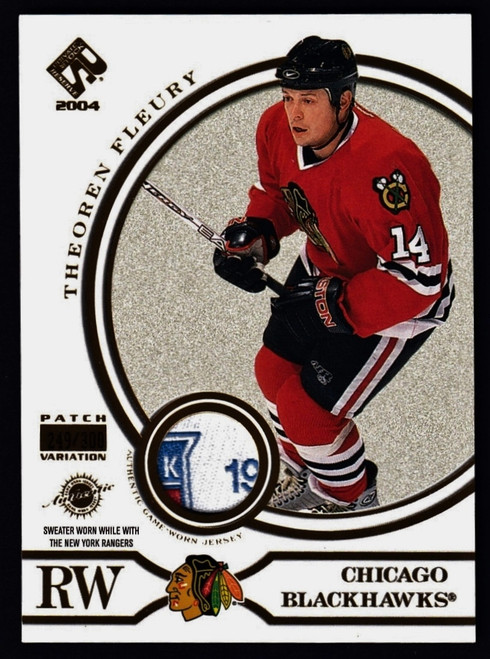 2004 Pacific Private Stock Titanium Theoren Fleury Jersey #249/300 NMMT or Better