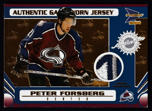 2004 Prism Peter Forsberg  Jersey #48/50 EX